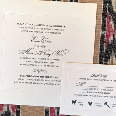 William Arthur Eliza & Henry Wedding Invitation
