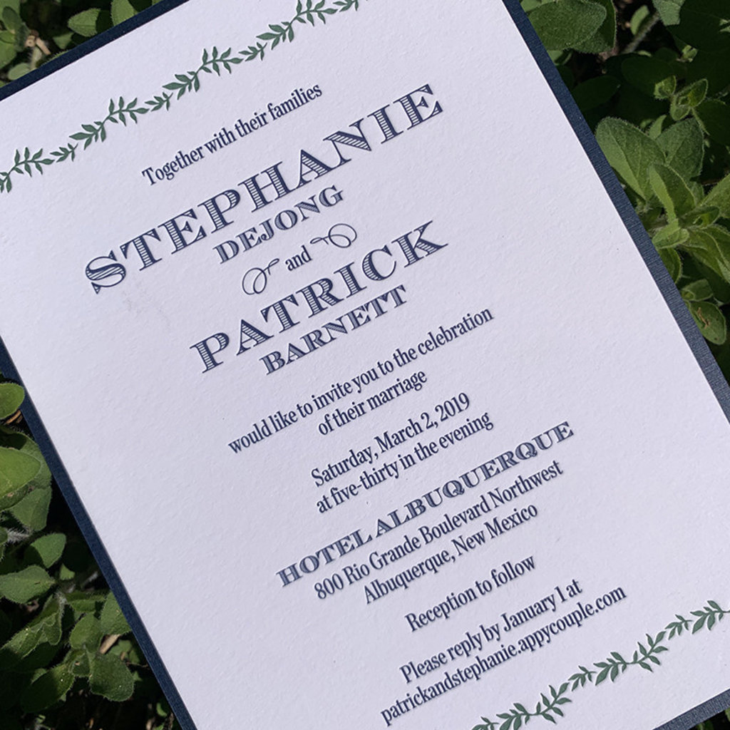 William Arthur Stephanie & Patrick Wedding Invitation