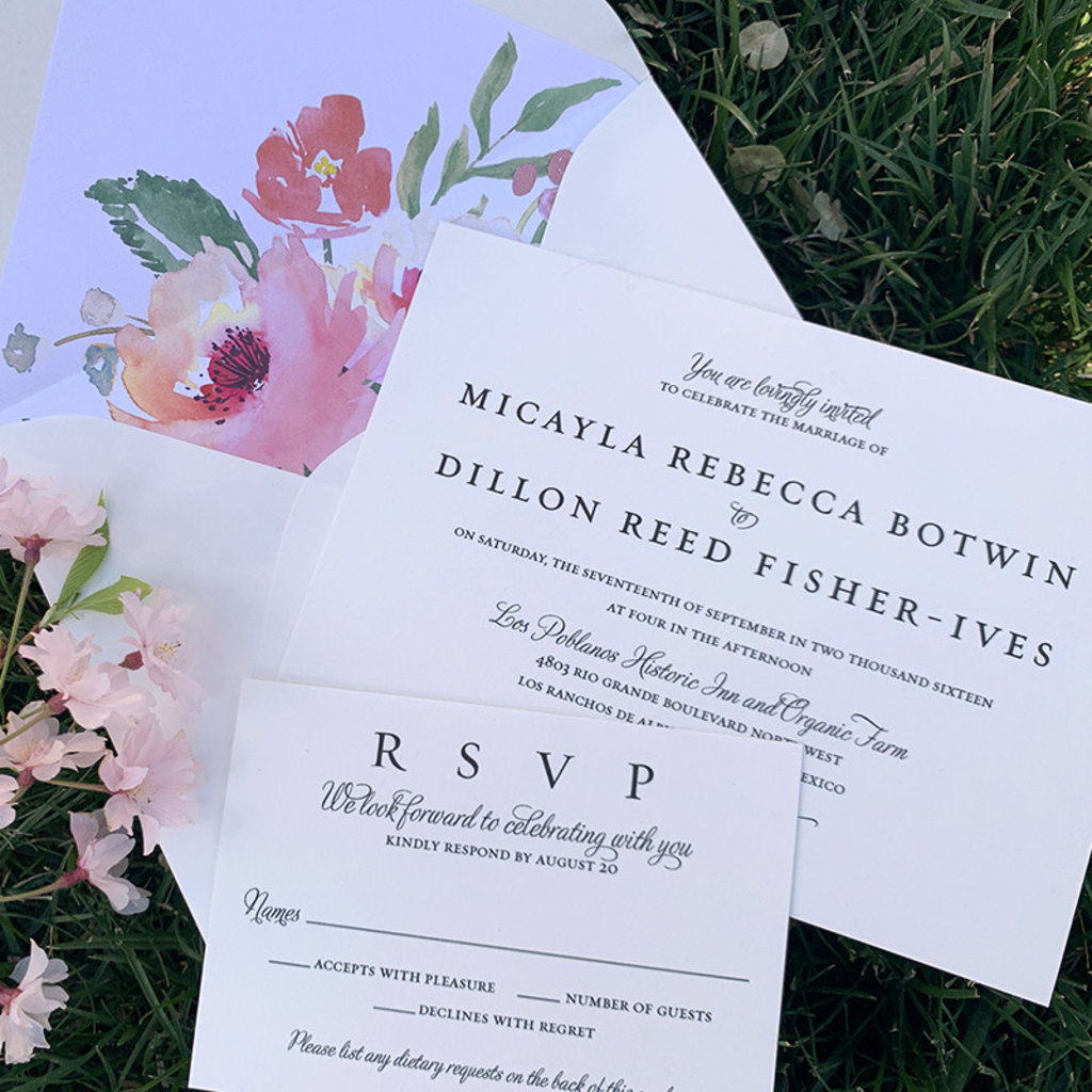 Micalya & Dillon Wedding Invitation