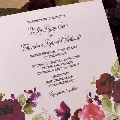 Kelly & Teddy Wedding Invitation