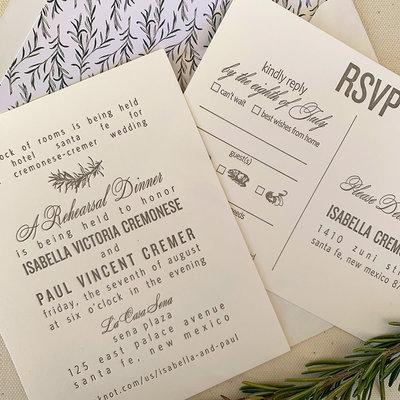 Isabella & Paul Wedding Invitation