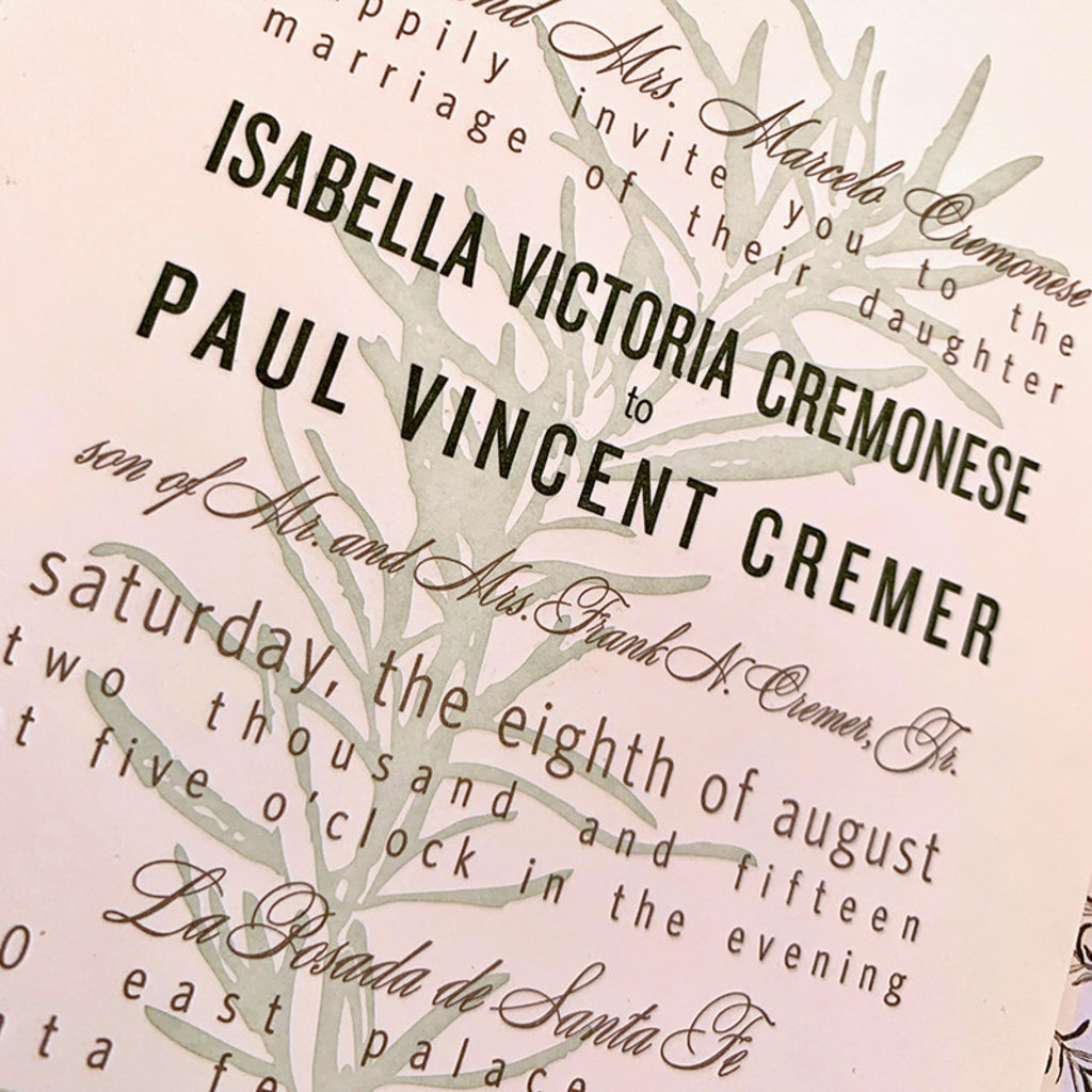 Isabella & Paul Wedding Invitation