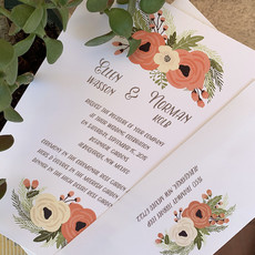 Ellen & Norman Wedding Invitation