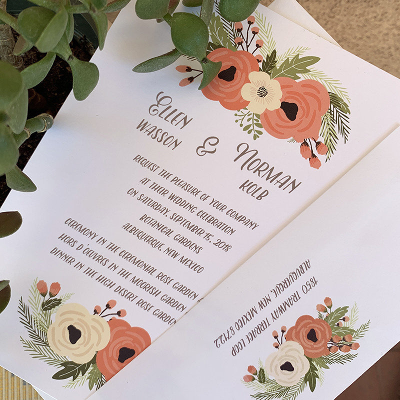 Ellen & Norman Wedding Invitation