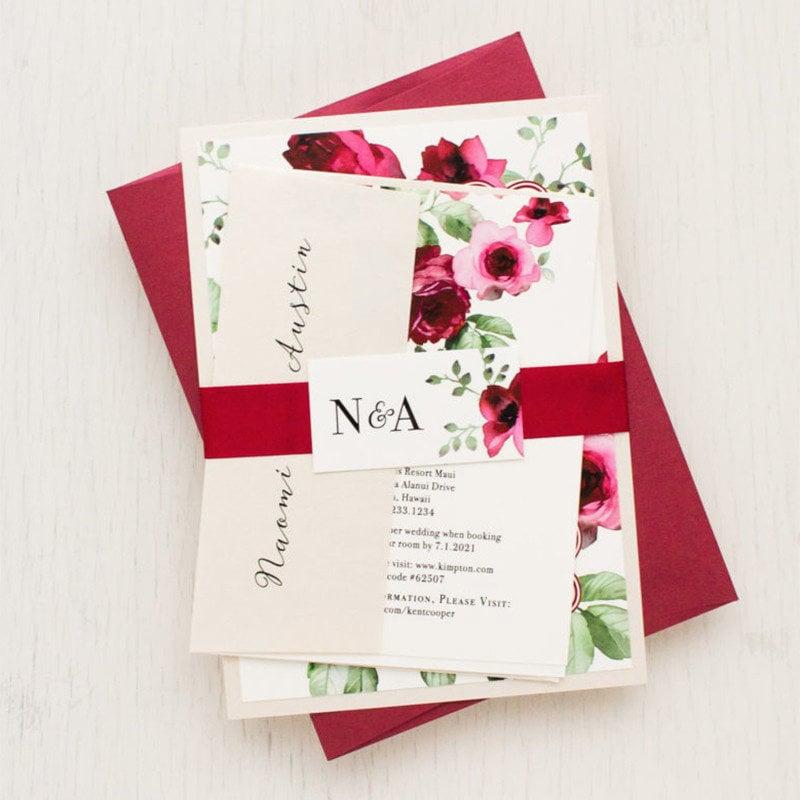 Blush of Rose Wedding Invitation