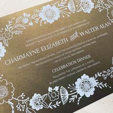 Pennysmiths Invitations Flora Blanca