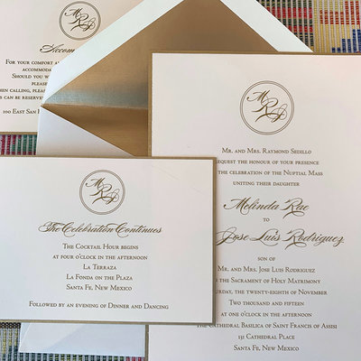 Pennysmiths Invitations Melinda & Jose Wedding Invitation