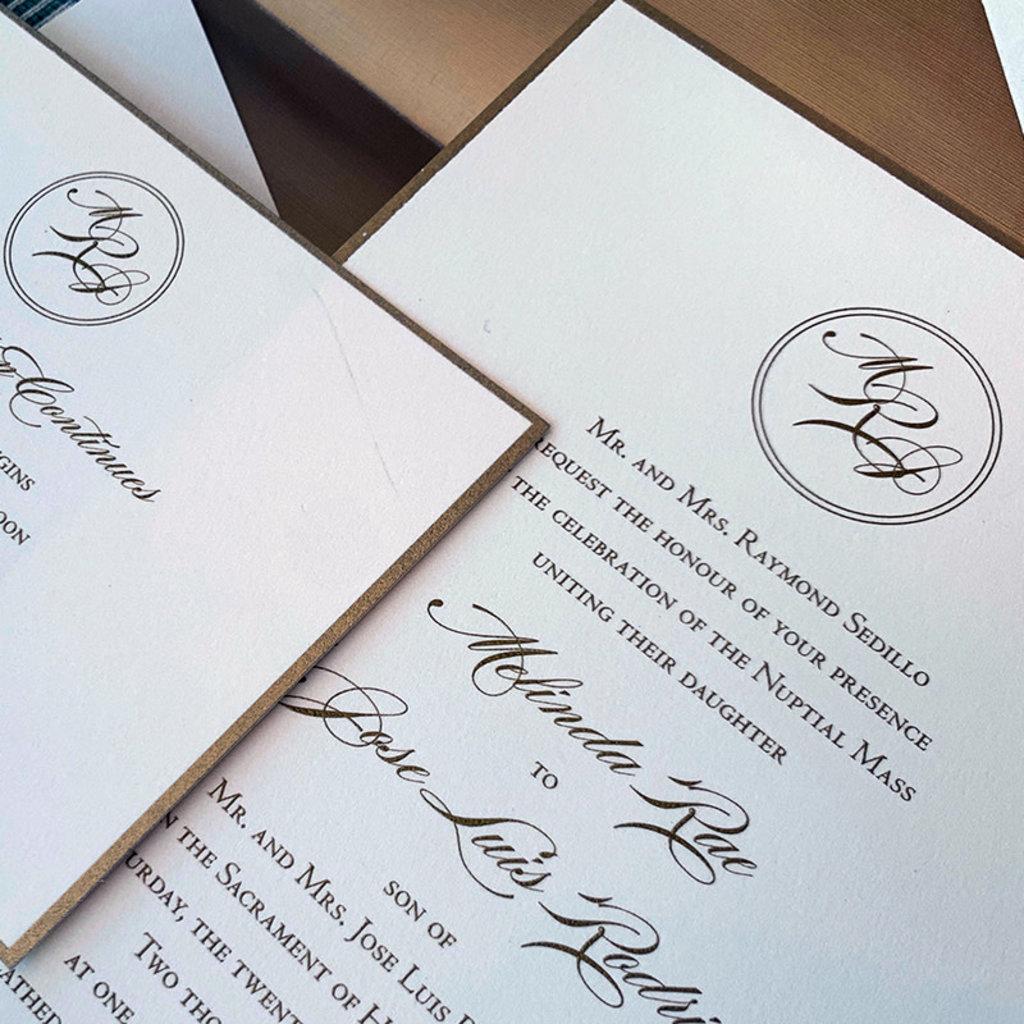 Melinda & Jose Wedding Invitation