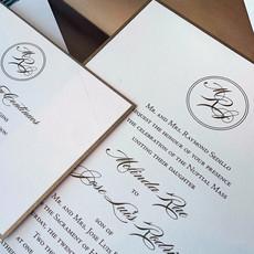 Pennysmiths Invitations Melinda & Jose Wedding Invitation