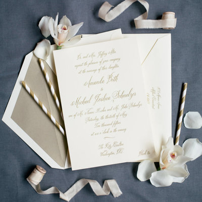 Pennysmiths Invitations Amanda & Mike Wedding Invitation
