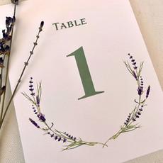 Lavender Sprig Table Number