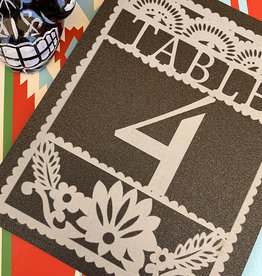 Pennysmiths Invitations Paper Picado Table Number