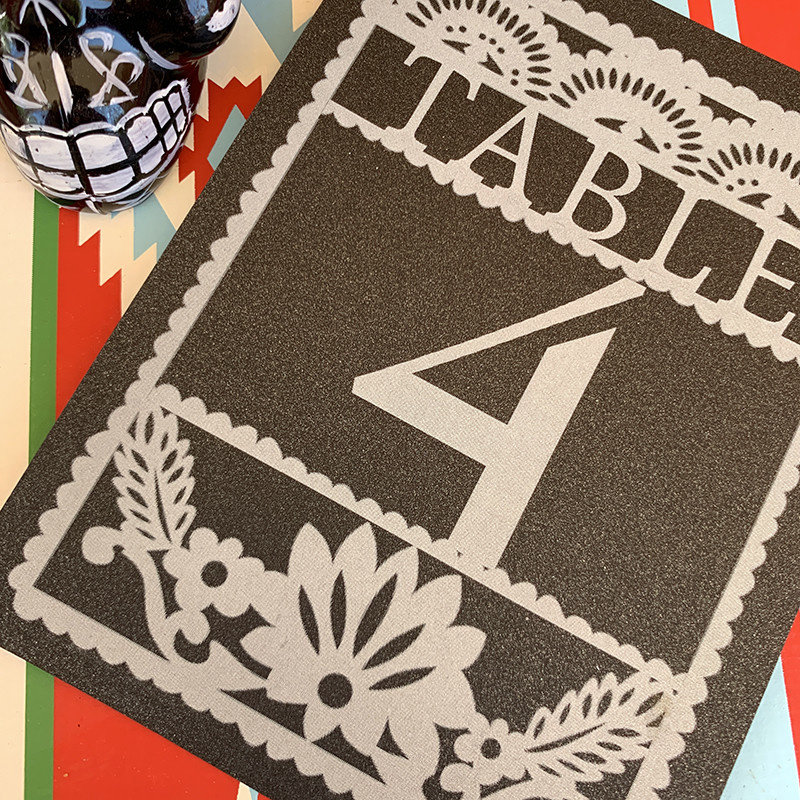 Paper Picado Table Number