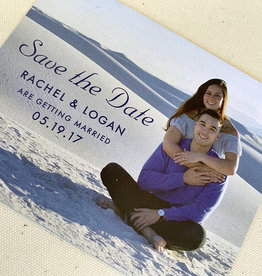 Pennysmiths Invitations White Sands Save the Date Magnet