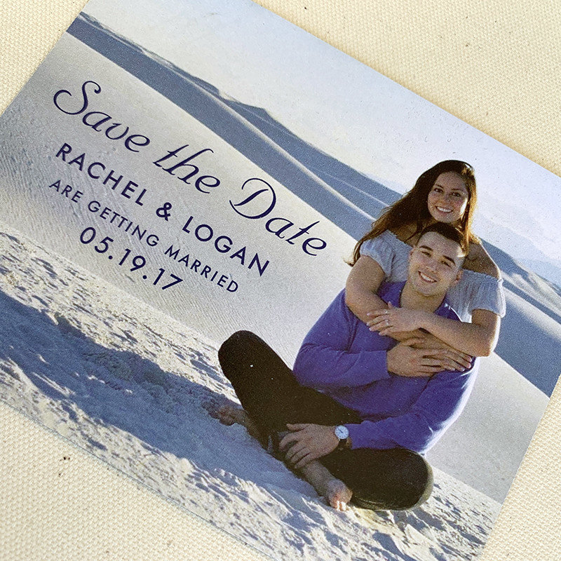 White Sands Save the Date Magnet