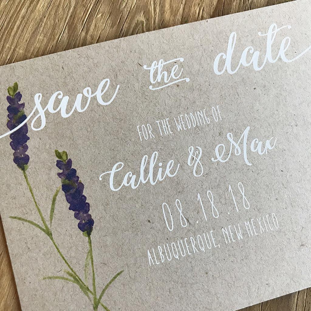 Lavender Sprig Save the Date