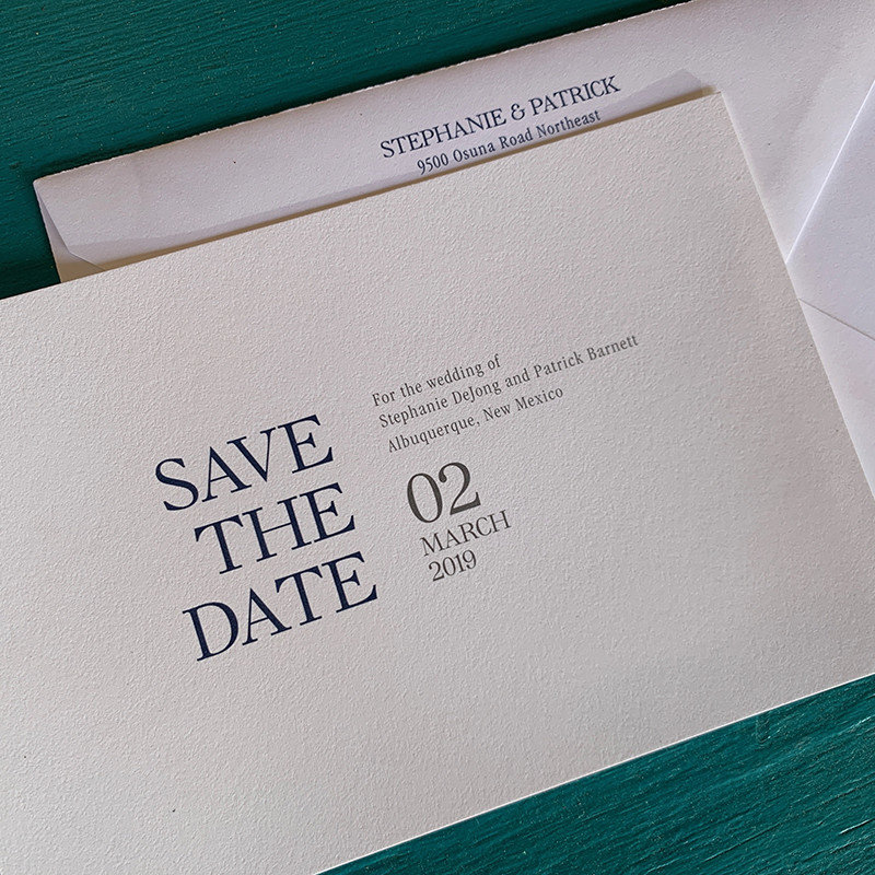 Modern Type Save the Date