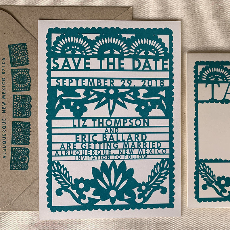 Papel Picado Save the Date