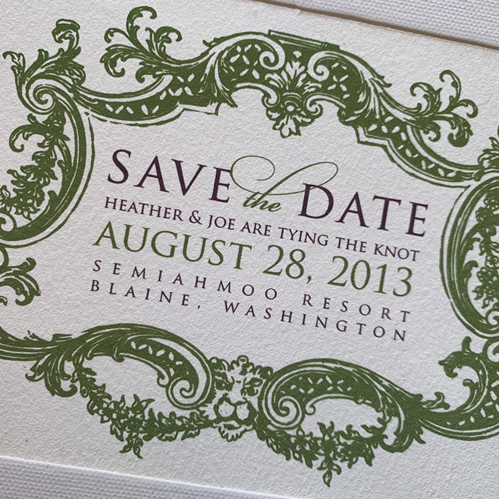 Romantic Border Save the Date