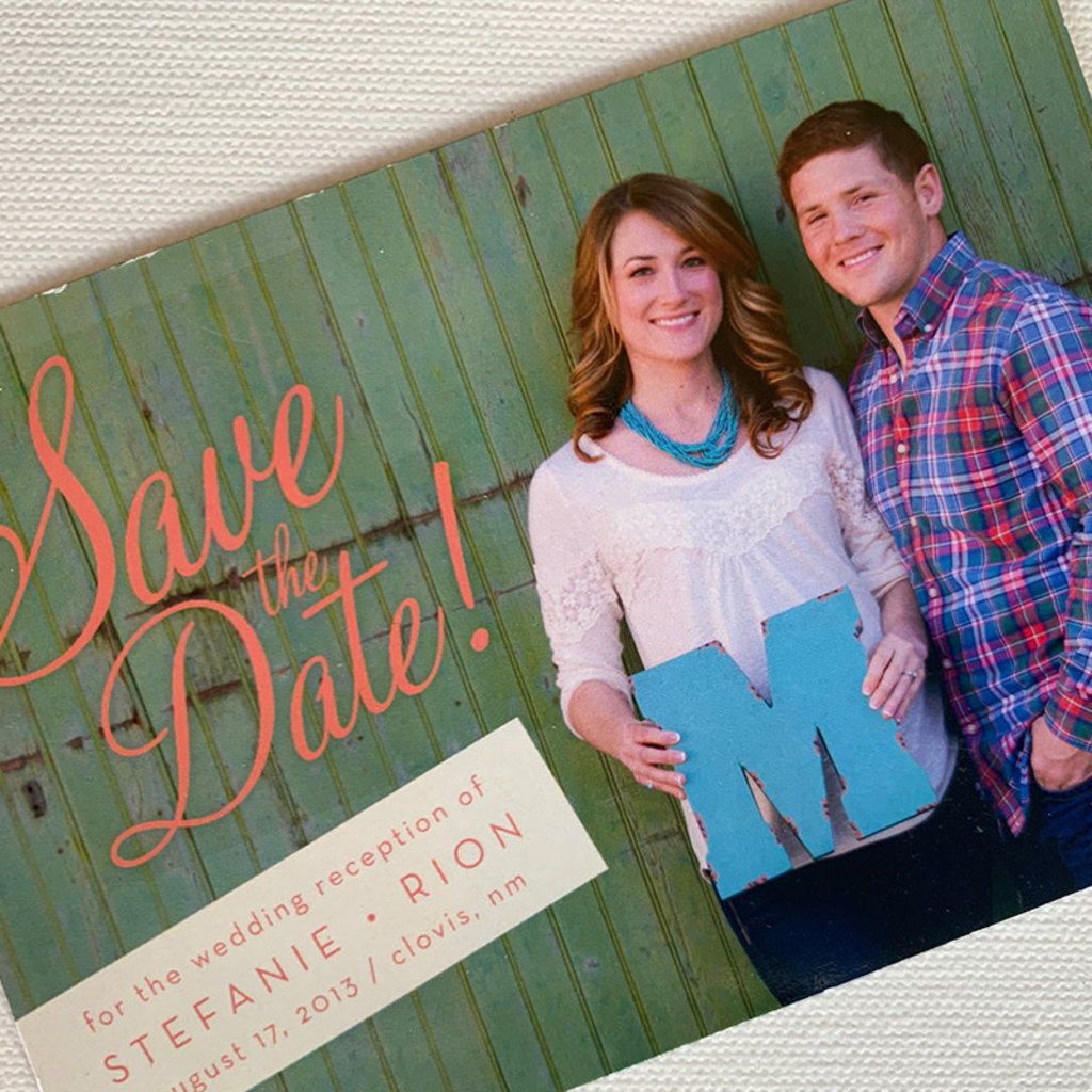 Magnet Save the Date Stephanie & Rion