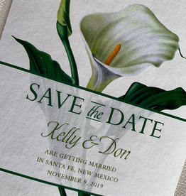 Cala Lily Save the Date