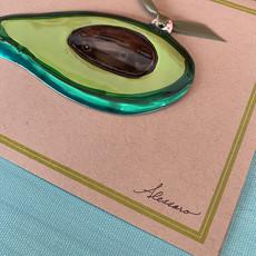 Alessaro Designs Avocado Ornament Card