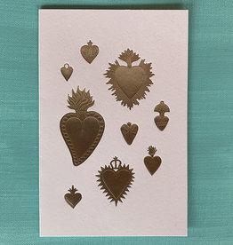 Gold Heart Milagro Card