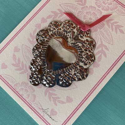 Alessaro Designs Heart Ornament Card
