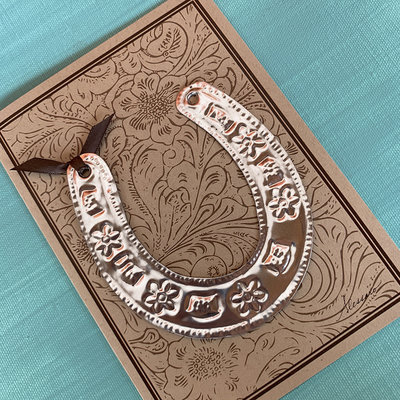 Alessaro Designs Horseshoe Ornament Card