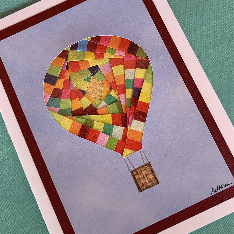 Hot Air Balloon Iris Paper Folding Card