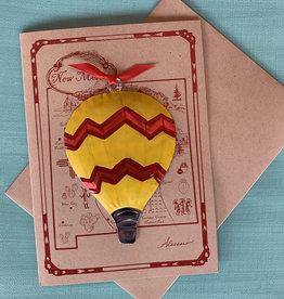 Alessaro Designs Hot Air Balloon Ornament Card