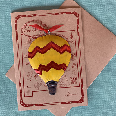 Hot Air Balloon Ornament Card