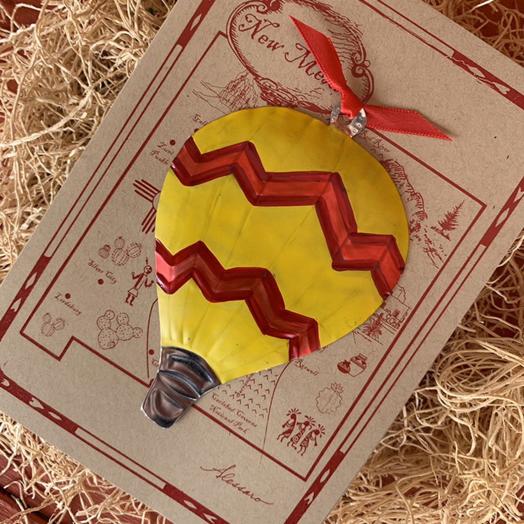 Hot Air Balloon Ornament Card
