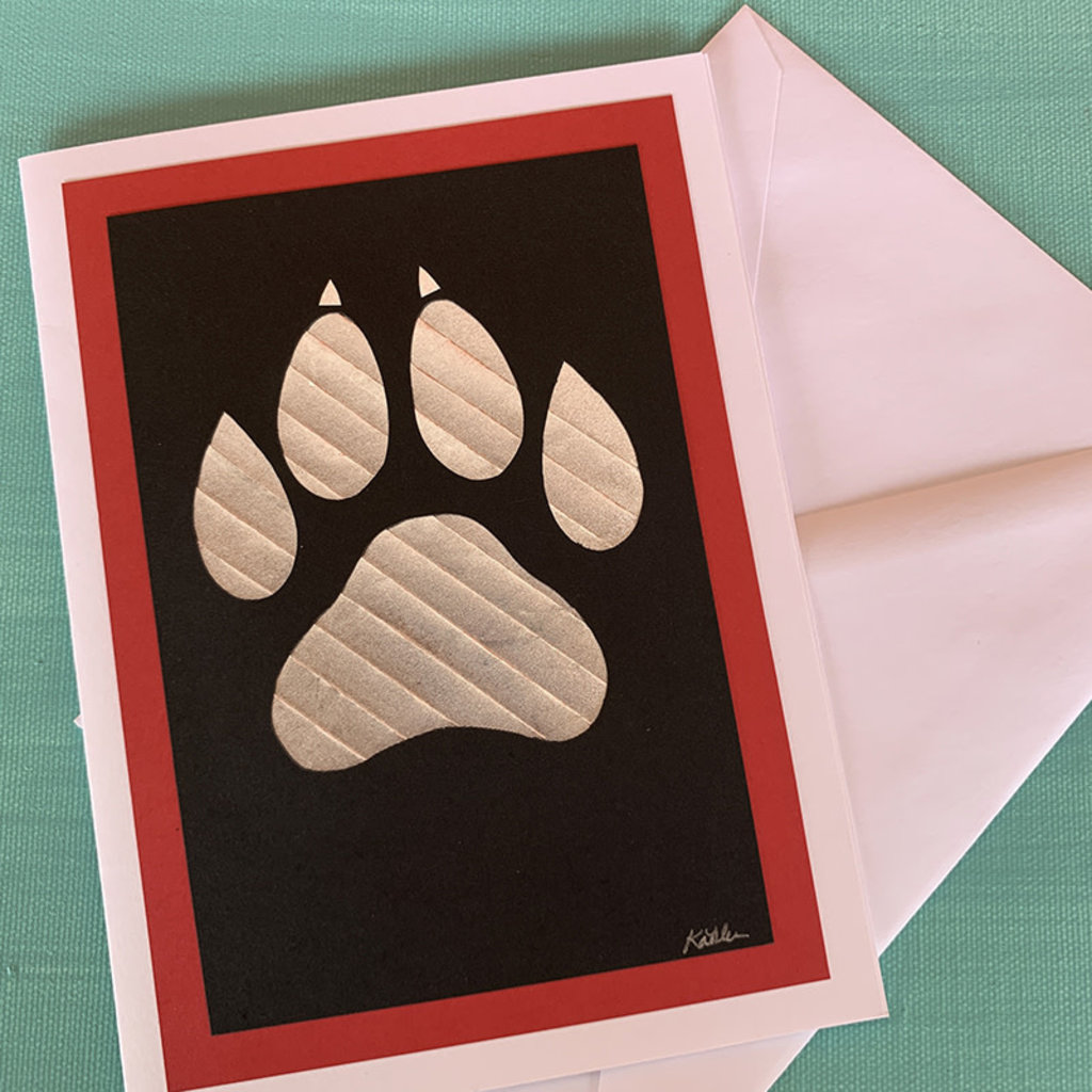 Lobo Paw Paperfold Card