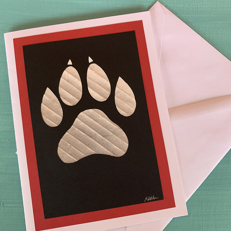 Lobo Paw Card