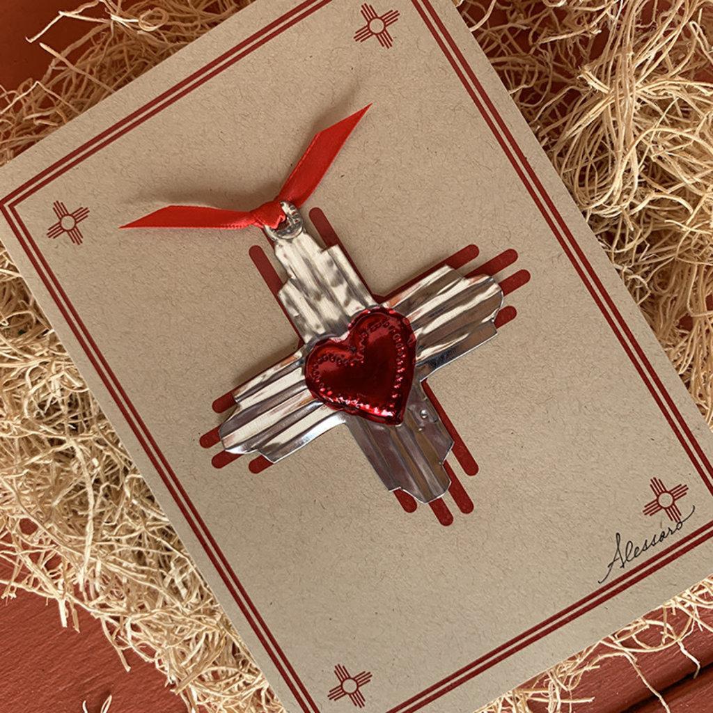 Zia Heart Ornament Card