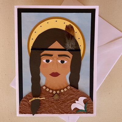 Saint Kateri Tekakwitha Collage Card