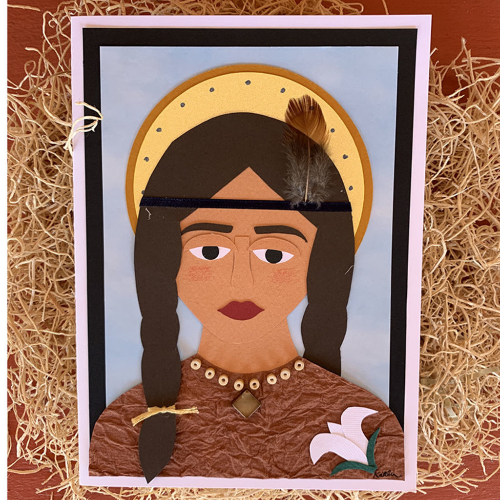 Saint Kateri Tekakwitha Collage Card