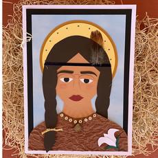 Cards by Kathleen Saint Kateri Tekakwitha Collage Card