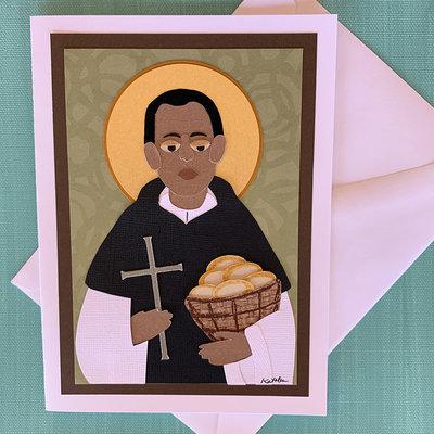Saint Martin de Porres Collage Card