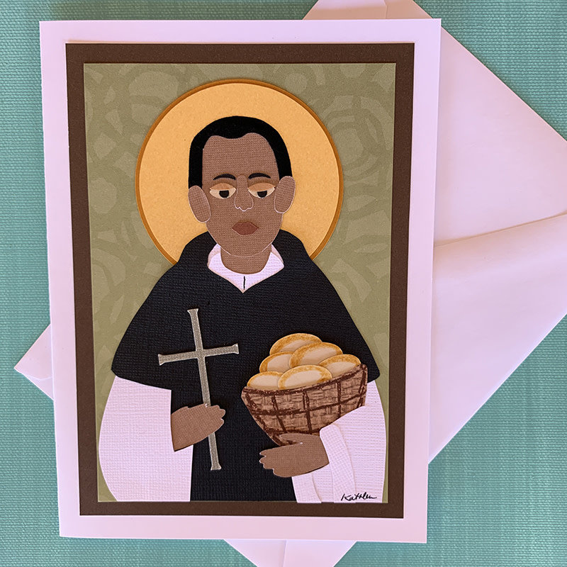 Saint Martin de Porres Collage Card
