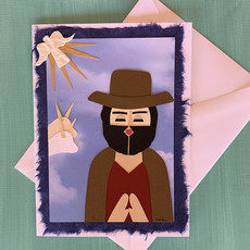 San Isidore the Farmer Collage Card