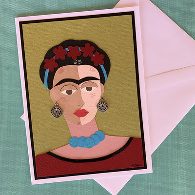 Cards by Kathleen Frida Kahlo Collage Card