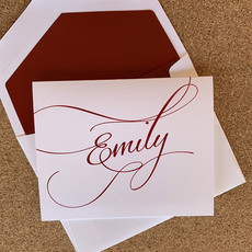 Embossed Graphics Flourish Fold over Card set of 25