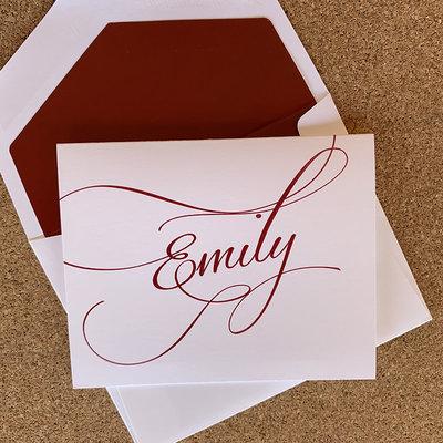 Embossed Graphics Flourish Fold over Card set of 25