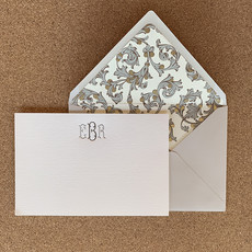 Italian Florentine Monogram Card set of 25