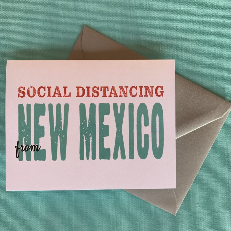 Pennysmiths New Mexico Social Distancing Card