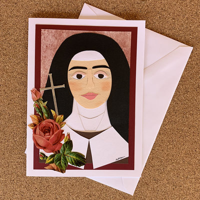 Cards by Kathleen Saint Therese of Lisieux Collage Card