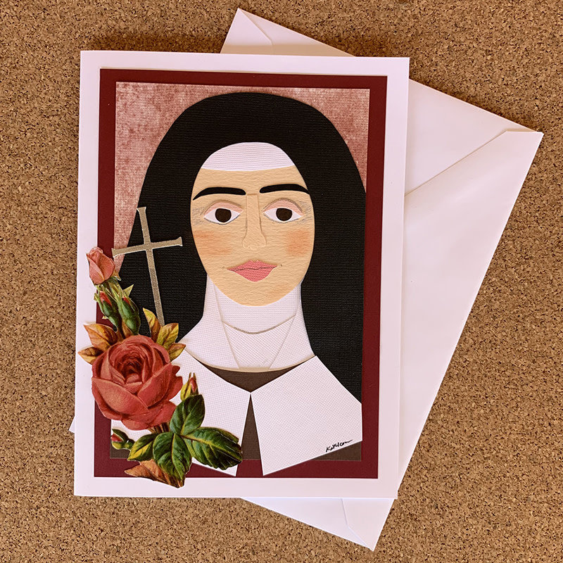 Saint Therese of Lisieux Collage Card