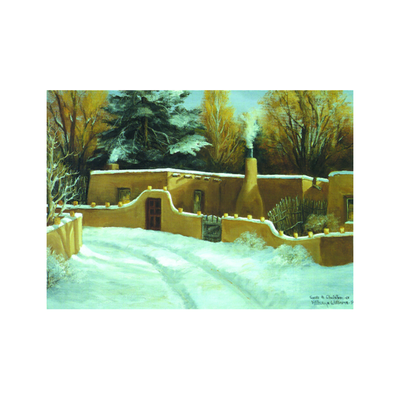 Santa Fe Christmas Holiday Cards